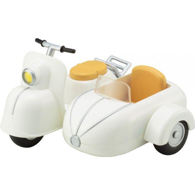 Cu-poche Extra Motorcycle & Sidecar (Milk White)