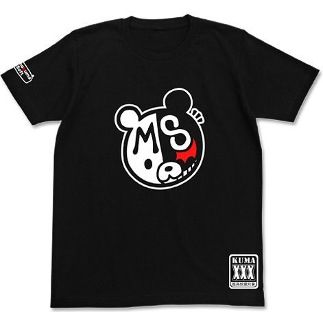 Danganronpa 1-2 - Monokuma Soft T-shirt Black (M Size)