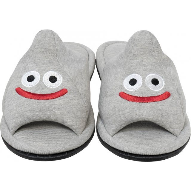 Dragon Quest Smile Slime Room Slippers - Metal Slime