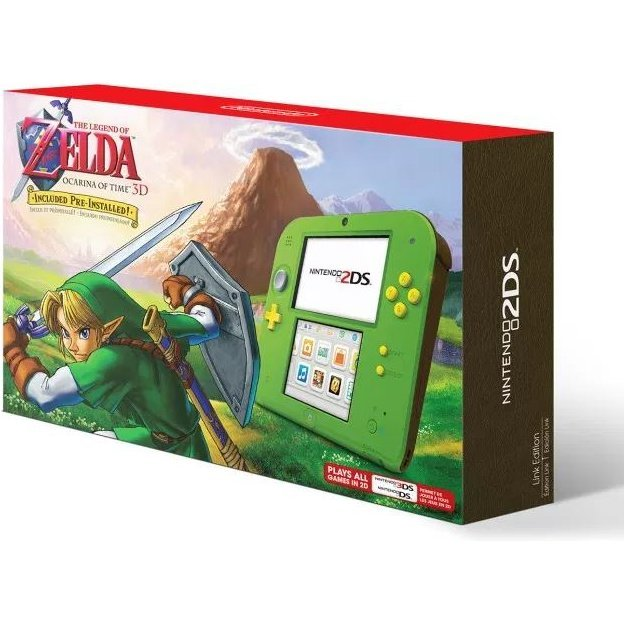 Nintendo 2DS Pre-installed The Legend of Zelda: Ocarina of Time 3D (Link Green)
