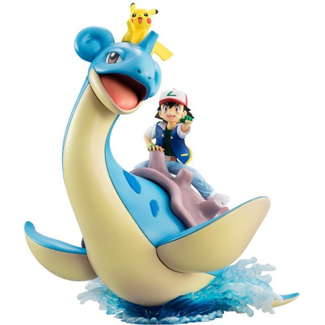 G.E.M. Series Pocket Monsters Pre-Painted PVC Figure: Ash Ketchum & Pikachu & Lapras