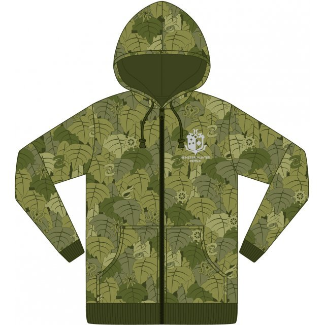 Monster Hunter World Zippered Hoodie - Hiding Clothes (M Size)