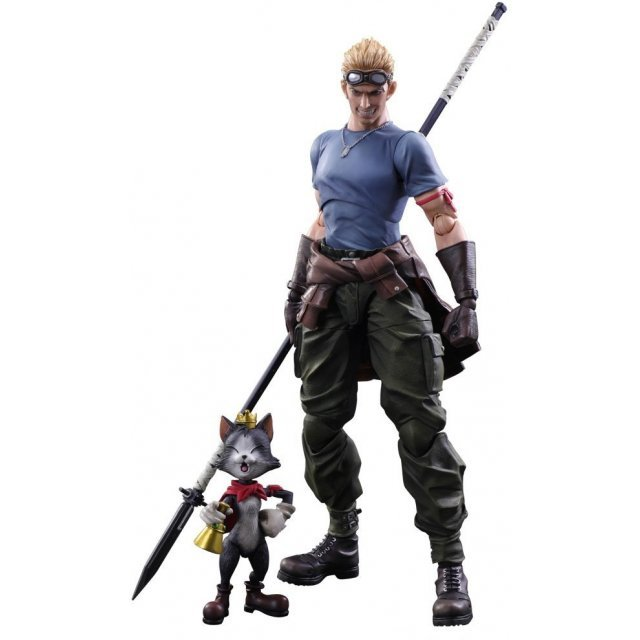Final Fantasy VII Advent Children Play Arts Kai: Cid Highwing & Cait Sith