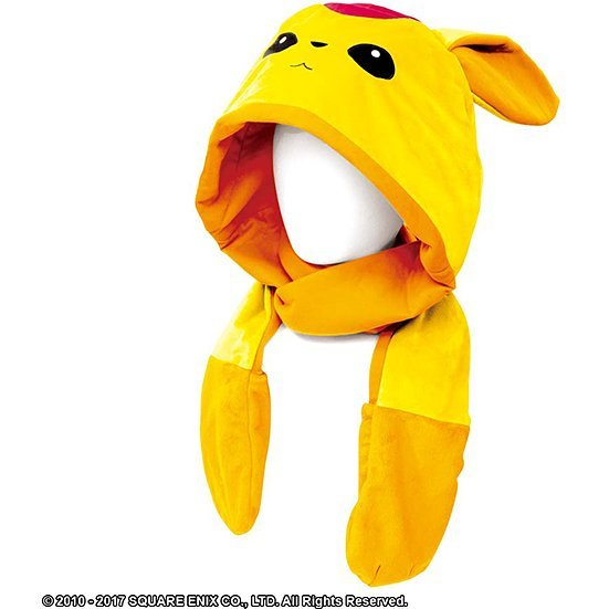 Final Fantasy XIV Muffler With Hood - Topaz Carbuncle