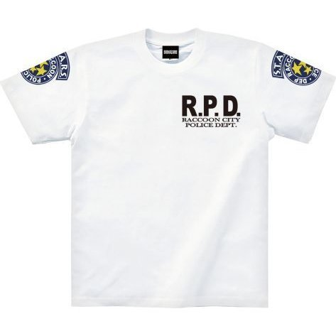 Resident Evil T-shirt S.T.A.R.S. White (L Size)