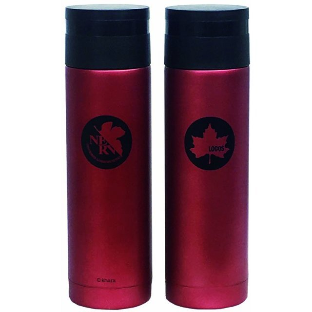 Rebuild Of Evangelion Eva & Logos Slim My Bottle Red (300ml)