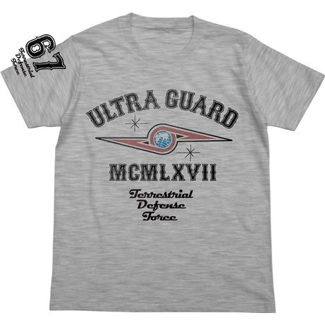 Ultra Seven - Ultra Guard T-shirt Heather Gray (L Size)