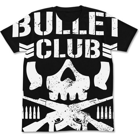 New Japan Pro-Wrestling - Bullet Club All Print T-shirt Black (XL Size)