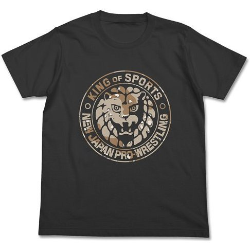 New Japan Pro-Wrestling - Lion Mark Camouflage T-shirt Sumi (M Size)