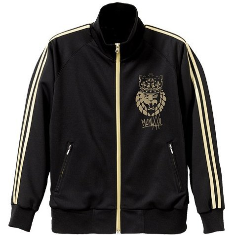 New Japan Pro-Wrestling - Lion Mark Crown Jersey Black x Gold (XL Size)