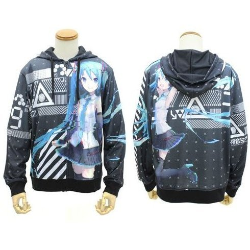 Hatsune Miku V4X - Full Graphic Light Hoodie (XL Size)