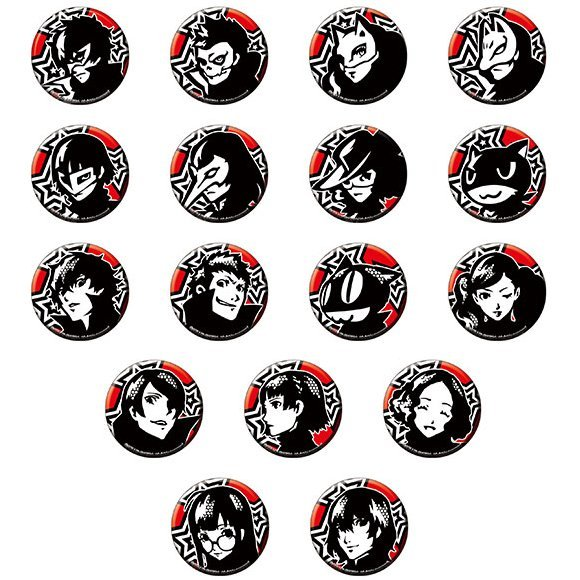 Persona 5 Trading Icon Can Badge Vol 1 (Set of 17 pieces)