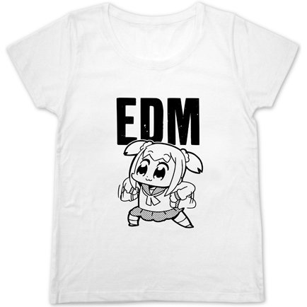 Pop Team Epic - EDM Girls Cutsew Shirt White (M Size)