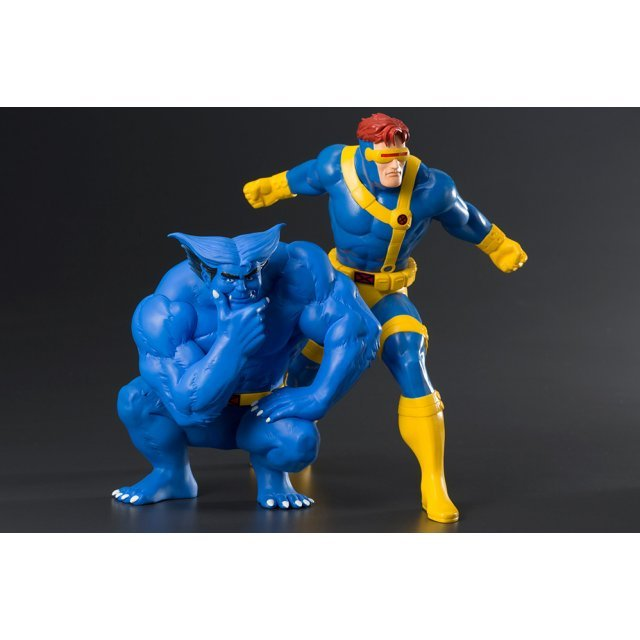 ARTFX+ X-Men - The Animated Series 1/10 Scale Pre-Painted Figure: Cyclops & Beast 2 Pack