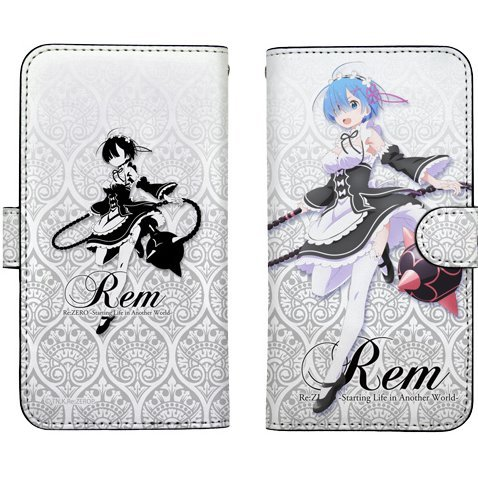 Re:Zero - Starting Life In Another World Book Style Smartphone Case 148: Rem & Morning Star