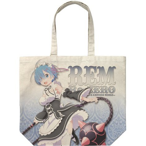 Re:Zero - Starting Life In Another World - Rem And Morning Star Full Graphic Large Tote Bag Natural