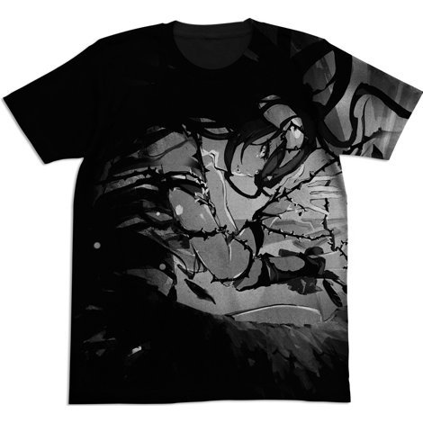 Overlord II - Albedo All Print T-shirt Black (S Size)
