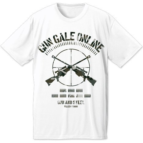 Sword Art Online The Movie: Ordinal Scale - Gun Gale Online Dry T-shirt White (M Size)