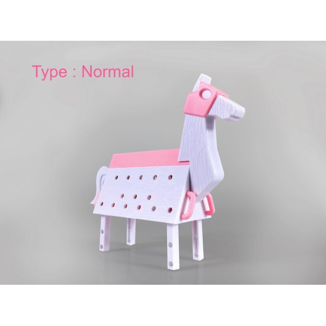 Love Toys Vol. 3 1/12 Scale Model Kit: Wooden Horse Pink Ver.