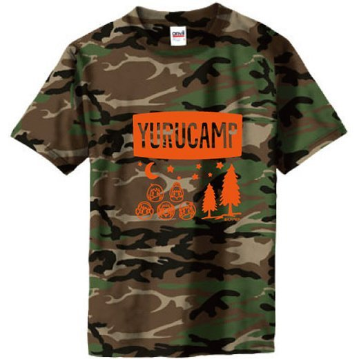 Yurucamp - Camouflage T-shirt Green (M Size)