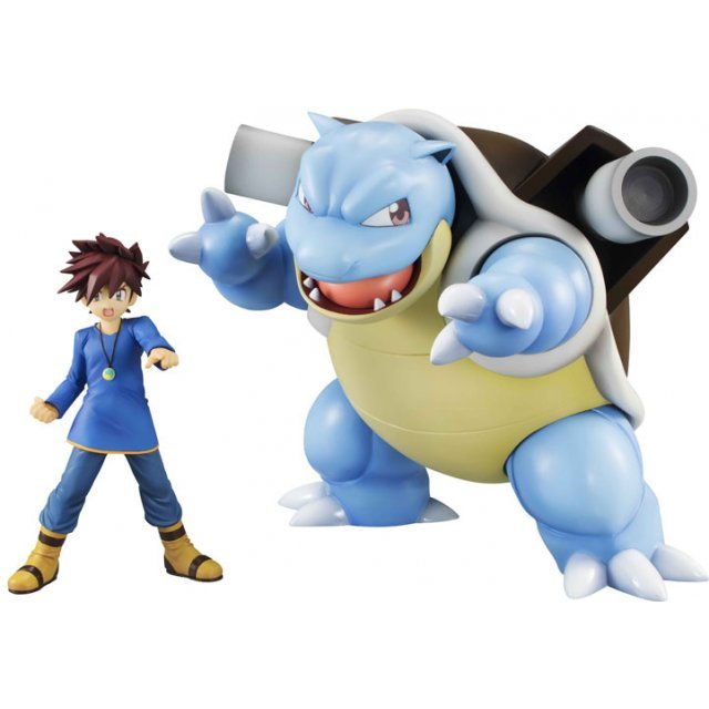 G.E.M. Series Pocket Monsters Pre-Painted PVC Figure: Gary & Blastoise