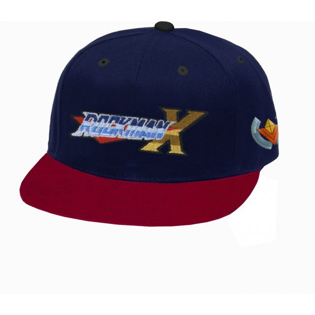 Mega Man X 30th Anniversary Flip Hat Navy x Red