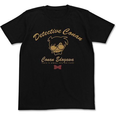 Detective Conan - Conan Edogawa Icon Mark T-shirt Black (XL Size)