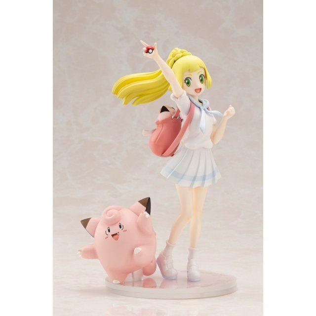 Pokemon Figure Series Pokemon Ultra Sun & Moon 1/8 Scale Pre-Painted Figure: Lillie & Pippi Ganba Ver.
