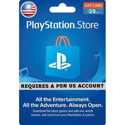 PSN Card 25 USD | Playstation Network US