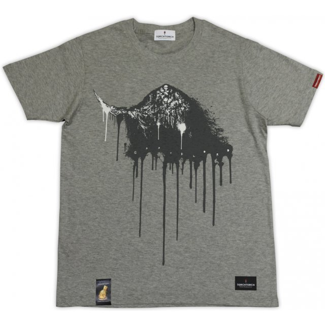Dark Souls × Torch Torch - Gravelord Nito T-shirt Heather Gray (S Size)