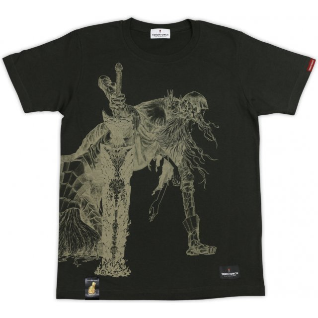 Dark Souls × Torch Torch - Twin Princes: Lothric & Lorian T-shirt Black (S Size)
