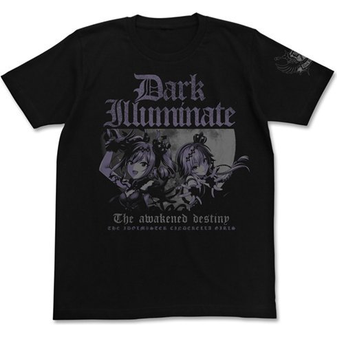 The Idolm@ster Cinderella Girls - Dark Illuminate T-shirt Ranko & Asuka Ver. Black (XL Size)