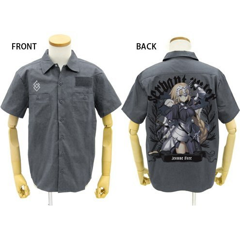 Fate/Grand Order - Jeanne D'Arc Full Color Work Shirt Gray (XL Size)