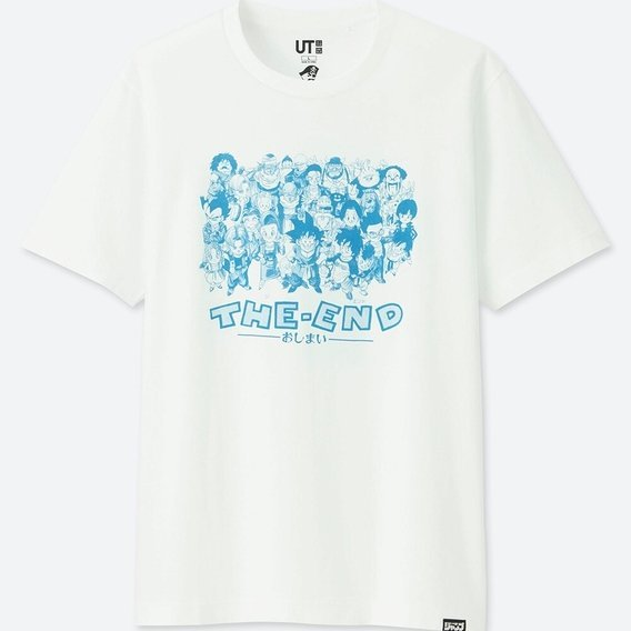 UT Jump 50th Anniversary - Dragon Ball The End Men's T-shirt White (M Size)