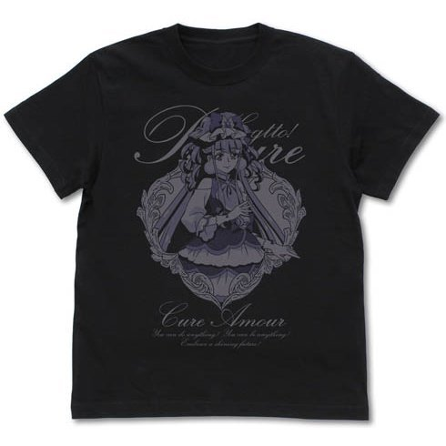 Hugtto! Precure - Cure Amour T-shirt Black (XL Size)
