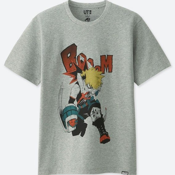 UT Jump 50th Anniversary - My Hero Academia Men's T-shirt Gray (L Size)