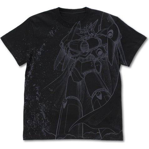 Gunbuster - Aim For The Top All Print T-shirt Black (M Size)