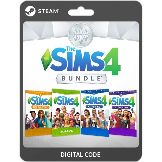 The Sims 4 - Expansions Bundle (The Sims 4 + The Sims 4: City Living + The Sims 4: Get to Work [DLC] + The Sims 4: Get Together [DLC])