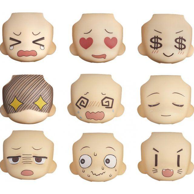 Nendoroid More: Face Swap 01 & 02 Selection (Set of 9 pieces)