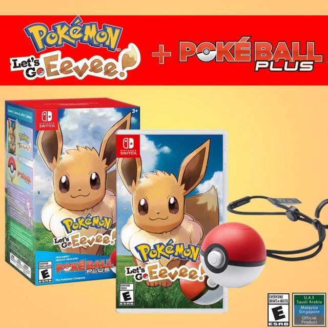 Pokemon: Let's Go, Eevee! + Poke Ball Plus Pack
