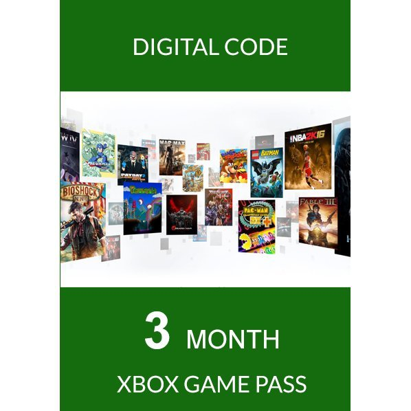Xbox Game Pass 3 Months For Console