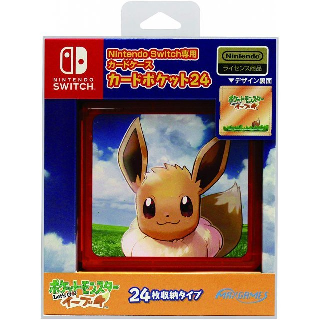 Pocket Monsters Let's Go! Eevee Card Pocket 24 for Nintendo Switch