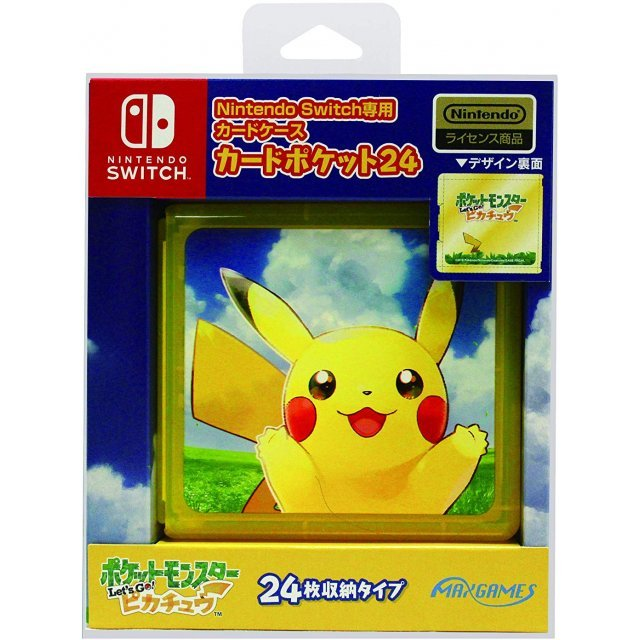 Pocket Monsters Let's Go! Pikachu Card Pocket 24 for Nintendo Switch