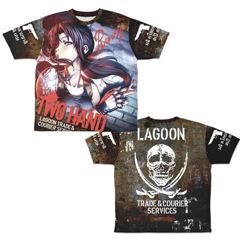 Black Lagoon - Two Hand Revy Double-sided Full Graphic T-shirt (S Size)