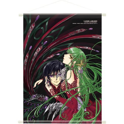 Code Geass Lelouch of the Rebellion Clamp Illustration A1 Wall Scroll: Lelouch & C.C.