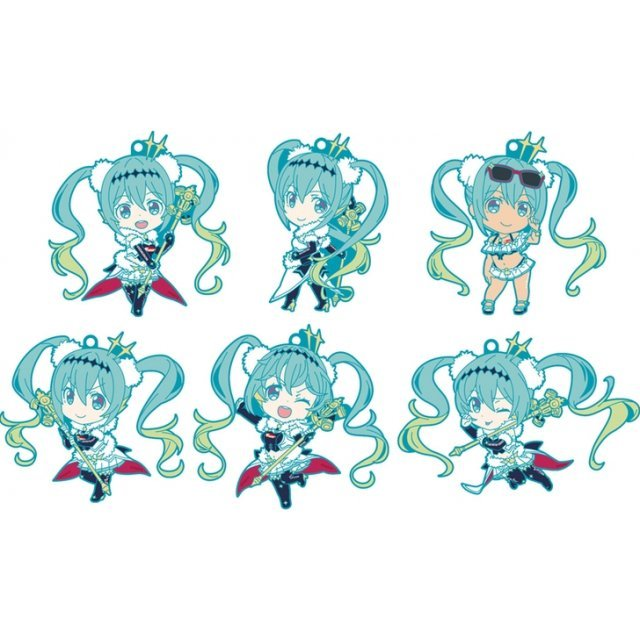 Hatsune Miku GT Project Racing Miku 2018 Ver. Nendoroid Plus Collectible Rubber Keychains (Set of 6 pieces)