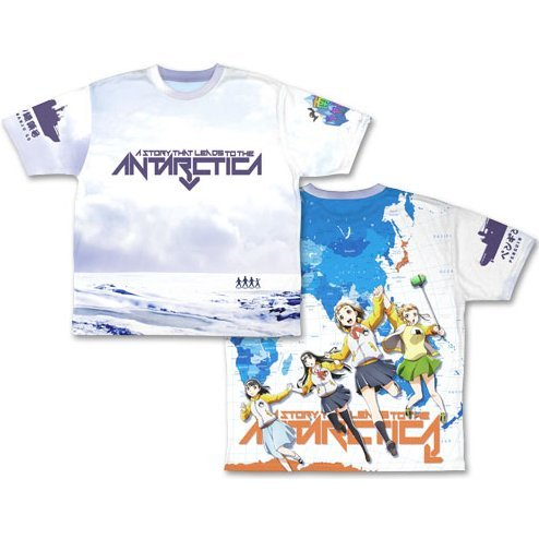 A Story That Leads To The Antarctica Double-sided Full Graphic T-shirt (L Size)