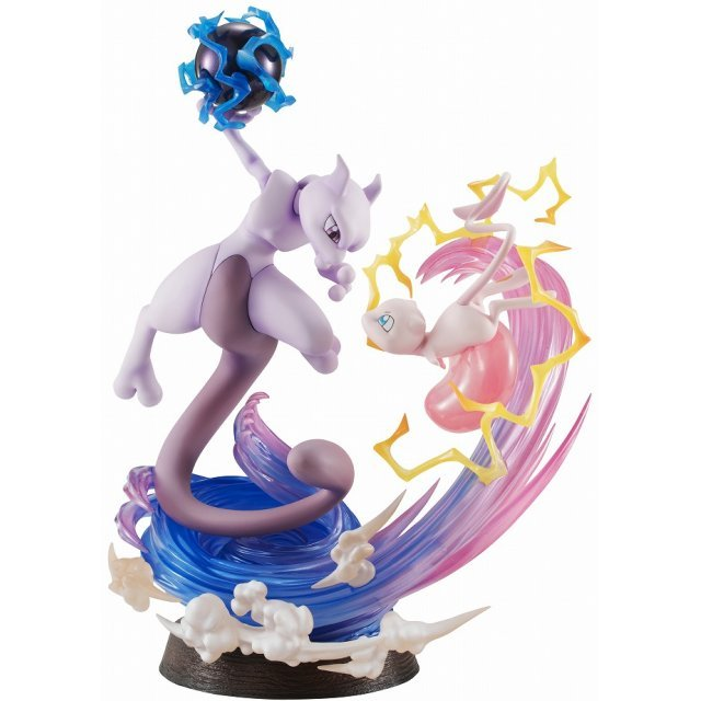 G.E.M. EX Series Pocket Monsters Pre-Painted PVC Figure: Mew & Mewtwo
