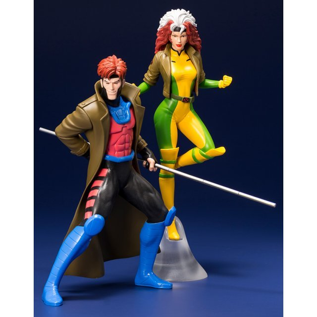 ARTFX+ X-Men - The Animated Series 1/10 Scale Pre-Painted Figure: Gambit & Rogue 2 Pack
