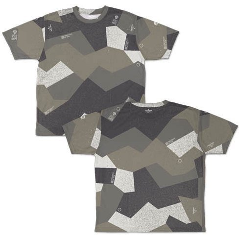Mobile Suit Gundam - Zeon Sprinter Camouflage Double-sided Full Graphic T-shirt (M Size)